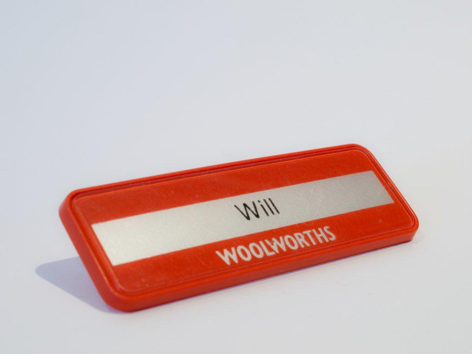 Namnskylt med namnet Will